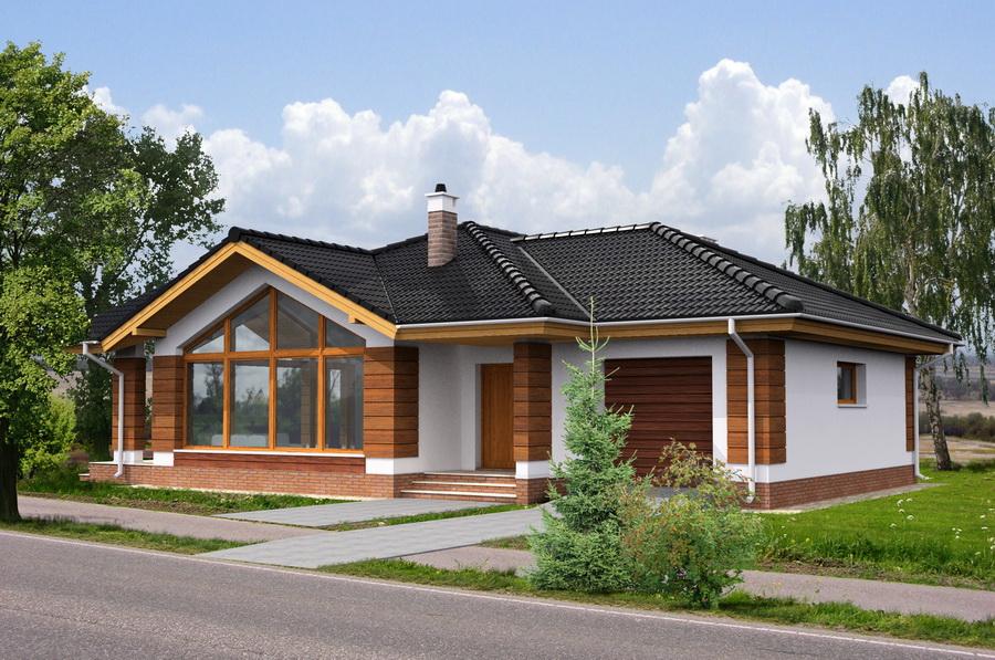 Красивые одноэтажные дома фото